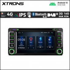 """Xtrons PSD60HGT Toyota 6.2"""" Android Navigation Multimedia Player with Built-in DSP,4G and CD player"""