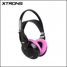 Xtrons DWH004S IR Wireless / Cordless Dual Channels Stereo Pink Headphones For Kids