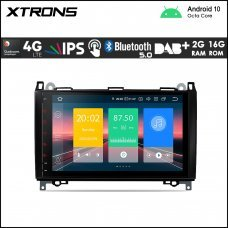 """Xtrons IN90M245L 9"""" Mercedes-Benz (A/B/Vito/Sprinter) Custom Fit Android Car Stereo Multimedia Navigation System With 4G"""