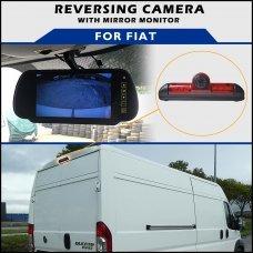 Fiat Ducato Brake Light 2006-2016 Reversing Camera With Mirror Monitor