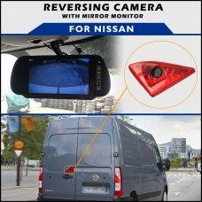 Nissan NV400 2010+ Brake Light Reversing Camera With Mirror Monitor