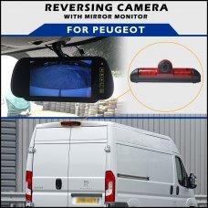 Peugeot Boxer Brake Light 2006-2016 Reversing Camera With Mirror Monitor