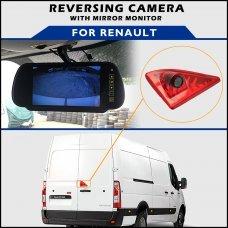 Renault Master 2010+ Brake Light Reversing Camera With Mirror Monitor