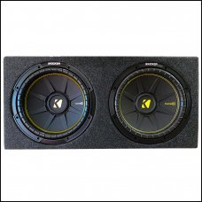 """Kicker 12"""" Dual Subwoofer With Box"""