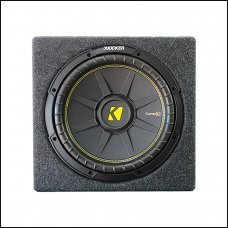 """Kicker 12"""" Single Subwoofer With Box"""