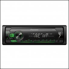 Pioneer MVH S120UBG Digital Media Receiver Front USB and Aux Car Stereo