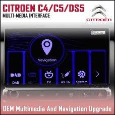 Adaptiv ADV-PSA.EU Citroen C4 Picasso 2013> Grand Picasso 2010> Cactus 2014>  C5 Saloon 2012>, C5 Tourer 2012>, DS3 2017>, DS5 2012> Factory OEM Multimedia SATNAV/USB/SD/AUX Upgrade