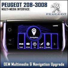 Adaptiv ADV-PSA Peugeot 308/2013> 508/2014> 208/2011> 3008/2014> Factory OEM Multimedia SATNAV/USB/SD/AUX Upgrade