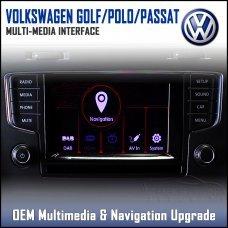 Adaptiv ADV-VW1.EU Volkswagen Golf, Polo, Passat 2015> Factory OEM Multimedia SATNAV/USB/SD/AUX Upgrade