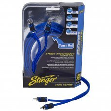 Stinger SI6212 12ft Two Channel 6000 Series RCA Interconnect Cable